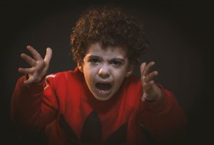 angry child because of a fixed mindset